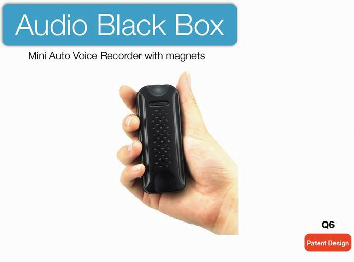 Q6digital Voice Activated Recorder Support 200 Hours Continuous