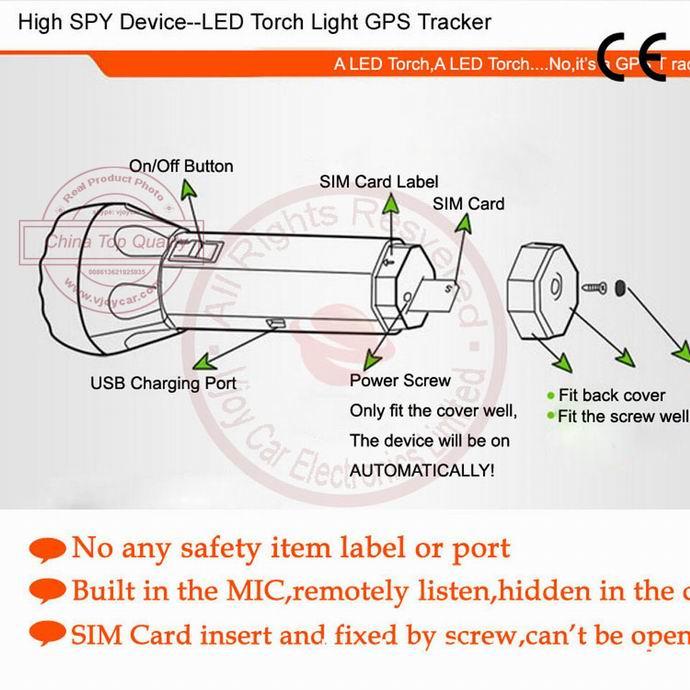 T10 High Spy Personal Gps Tracker Hidden Inside Portable